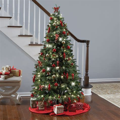instant fully decorated christmas tree hammacher