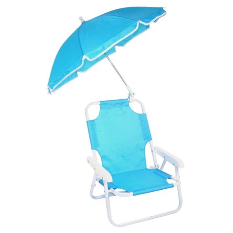 new children s folding chair with umbrella blue ebay