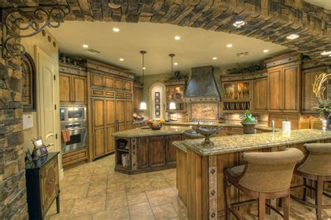 luxury country kitchens luxury kitchen with archway and granite counter tops 3906