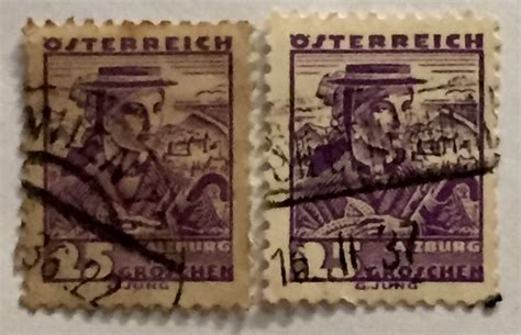Error Stamps From Austria And France, Do They A Different