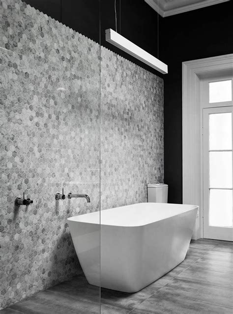 Badezimmer Fliesen Ideen Grau by Bathroom Tile Ideas Grey Hexagon Tiles