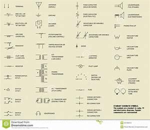 Electronic Symbols  Stock Photo