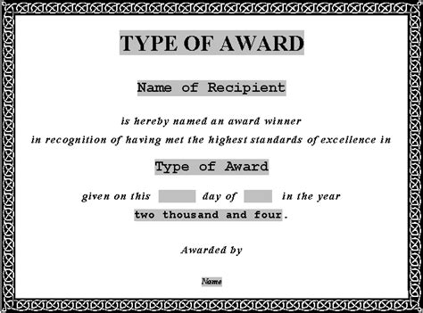 award certificate template word 5 free award certificate templates excel pdf formats
