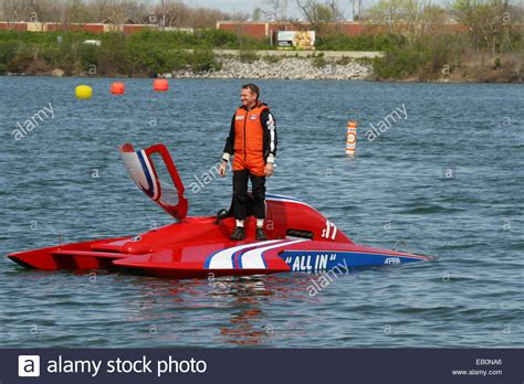 Hydroplane Boat Fails race boat driver awaits a tow line when hydroplane s17 all