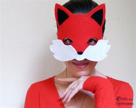 Fox Mask Sewing Pattern Tail Easy Diy Set 1 Copy By Dolls