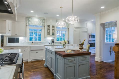 light blue painted kitchen cabinets white kitchen with light blue painted island