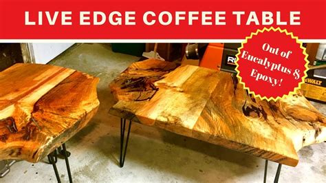 diy woodworking  edge coffee table colored epoxy