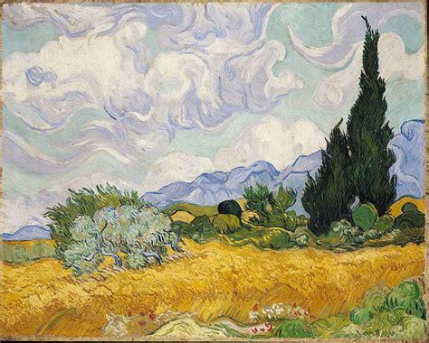 london national gallery    vincent van gogh  wheatfield  cypresses