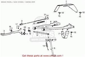 Honda Mr50 Elsinore 1974 K0 Usa Brake Pedal    Side Stand