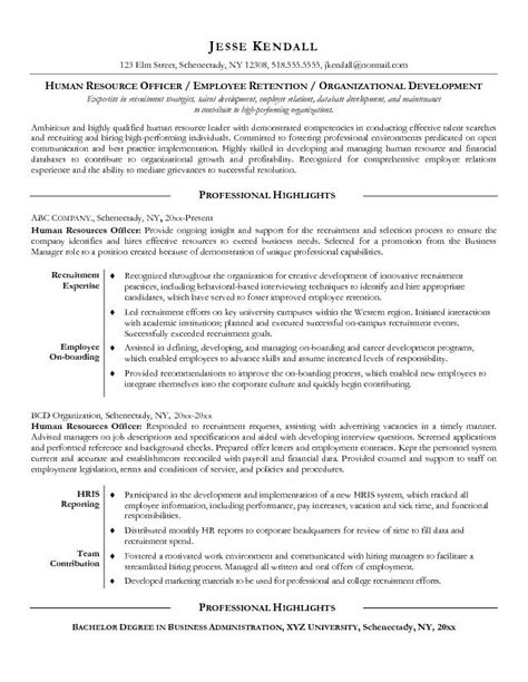 resume objective for human resources director exle resume sle resume objectives hr