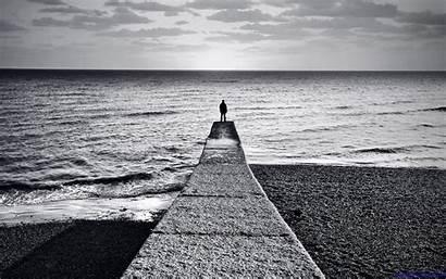 Alone Boy Backgrounds Beach Lonely Pixelstalk