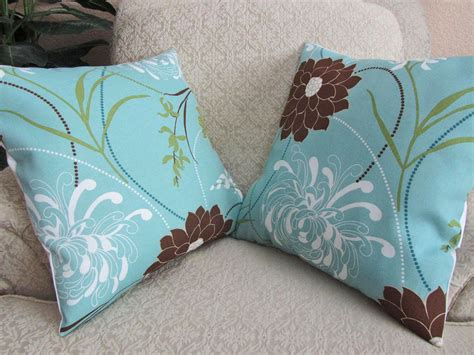 Blue Brown Throw Pillows by Light Blue Pillows Bring Elegance To Your Sofa Best