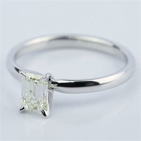 carat emerald cut diamond engagement ring