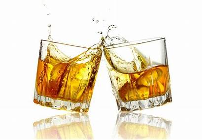 Whiskey Glasses Clinking Cheers Whisky Together Glass