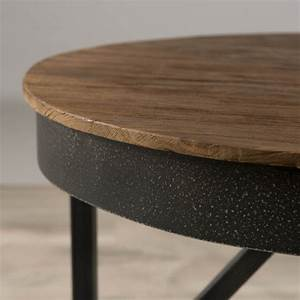 Table Ronde Aluminium : table basse ronde d 39 appoint 50 x 50 cm bois et m tal meubles macabane meubles et objets de ~ Teatrodelosmanantiales.com Idées de Décoration