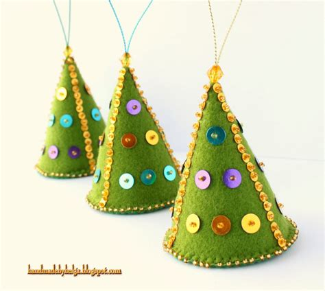 handmade by helga felt christmas tree ornaments