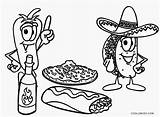 Coloring Pages Mexican Printable Unhealthy Cool2bkids Colouring Drawing Faces Mariachi Band Mayo Cinco Getcolorings Healthy Vs Junk Getdrawings sketch template