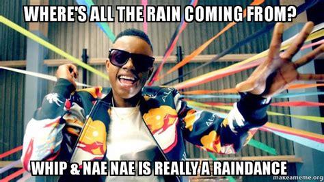 Nae Nae Meme - where s all the rain coming from whip nae nae is really a raindance make a meme