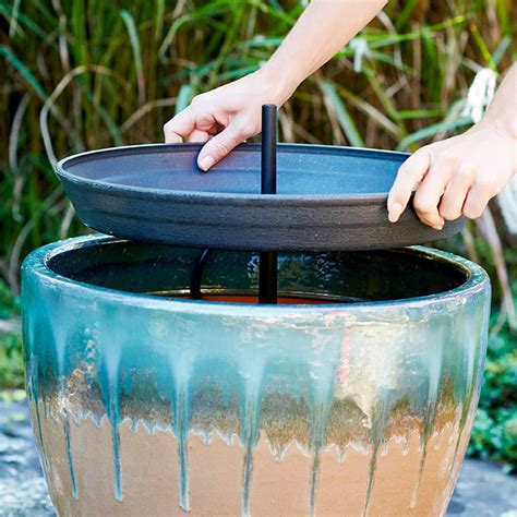 two tier patio water
