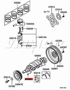 Viamoto Mitsubishi Car Parts Crankshaft Woodruff Key - Fto 1 8 De2a  Fto - Engine Parts
