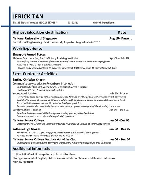 Resume Assignment by Professional Communication Principles And Practice