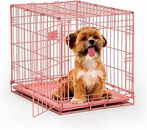 Midwest icrate single door dog crate pink 24 in chewycom for Dog crates for dogs