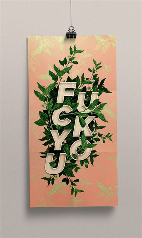 creative cursing experimental typography by masterfulmd via behance typography pinterest