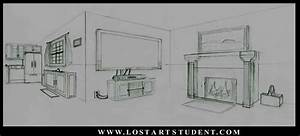 Image Gallery inside house drawing