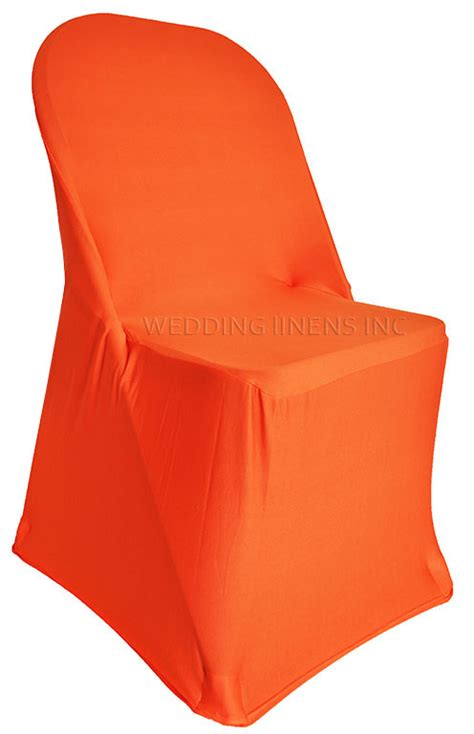 orange folding spandex chair covers stretch lycra folding