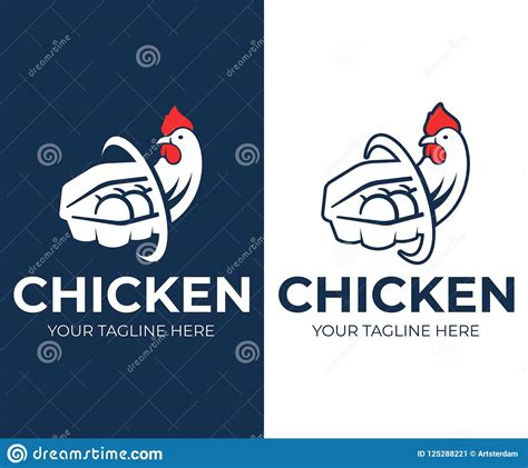 This package includes easy to work with files that allow you to customize box packaging mockups to suit your brand. Chicken And Eggs In A Paper Box On A White And Blue ...