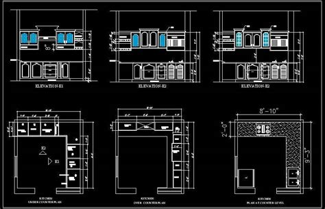 shape modular kitchen design autocad dwg plan  design