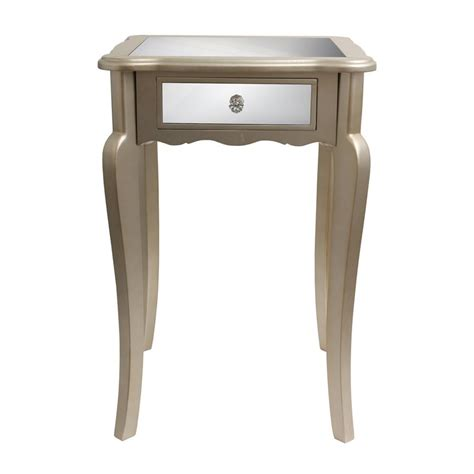 silver leaf end table shop decor therapy silver leaf end table at lowes com