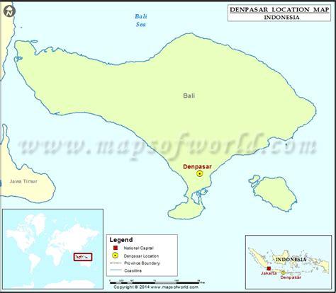 denpasar location  denpasar  indonesia map