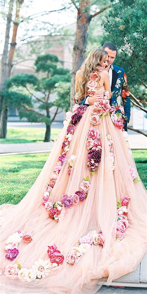 Floral Wedding Dresses Via Lena Kozhina Deer Pearl Flowers