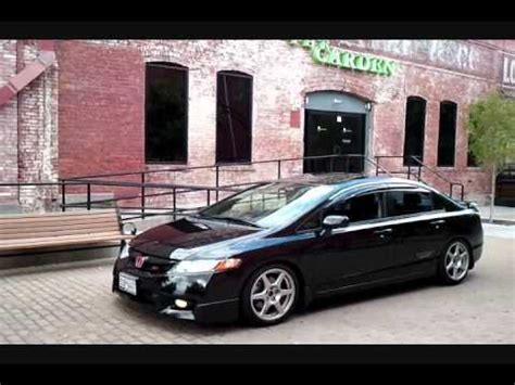 honda civic  rollin stance youtube