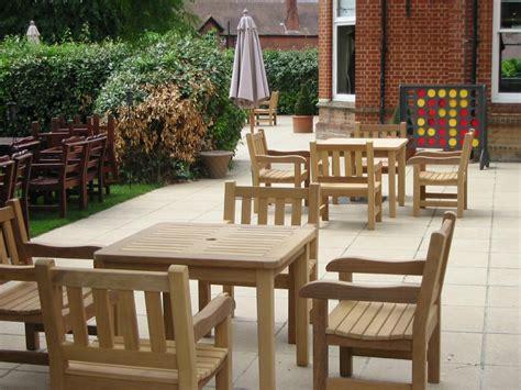 bespoke wooden garden tables beer garden patio tables