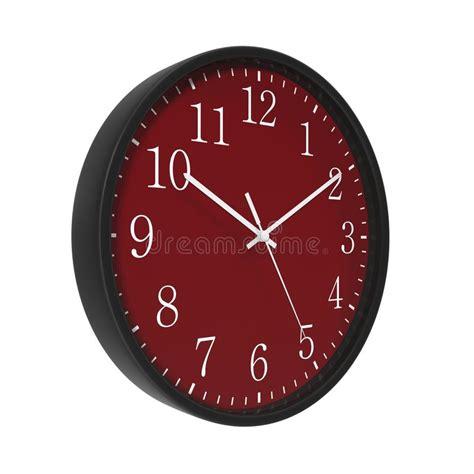 horloge sur bureau cadran d 39 horloge ronde de bureau sur le blanc