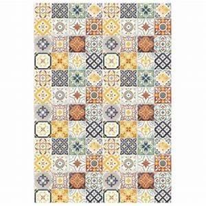 Tapis Vinyl Carreaux De Ciment Pas Cher : tapis carreaux de ciment achat vente tapis carreaux de ~ Preciouscoupons.com Idées de Décoration