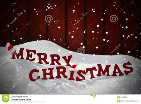 card  red letter merry christmas snow snowflake