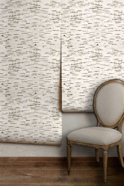 birch bark easy  apply removable peel  stick wallpaper