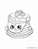 Coloring Pancakes Shopkin Berry Sweet Pet Littlest sketch template