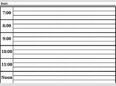 Daily Calendar Template Printable PDF Blank Calendar
