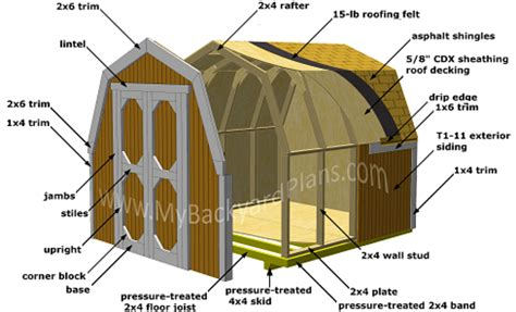 8x8 Shed Plans With Loft by How To Build A Gambrel Storage Shed My