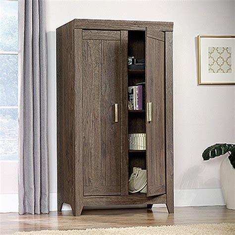 sauder oak storage cabinet sauder adept fossil oak storage cabinet 418142 the home