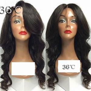 brazilian virgin body wave lace front wigs with side bangs ...