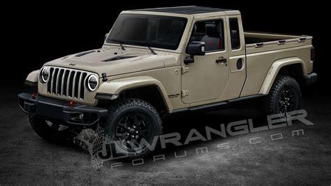 jeep wrangler pickup concept 2019 jeep wrangler pickup predictably rendered