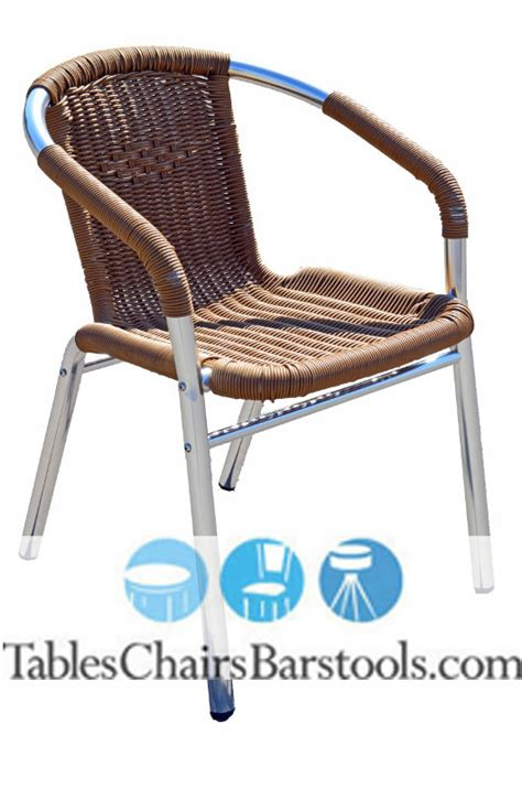 mojave commercial outdoor aluminum resin wicker chair