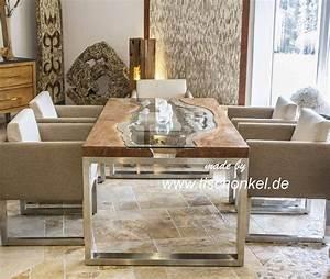 Esstisch Holz Edelstahl : esstisch glas holz ~ Whattoseeinmadrid.com Haus und Dekorationen