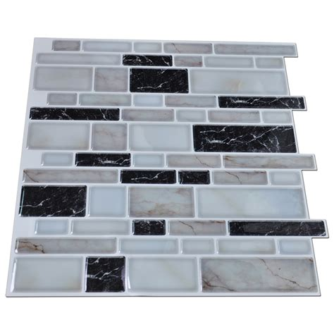 stick on backsplash peel n stick kitchen backsplash tile brick pattern