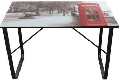 plateau de bureau en verre bureau plateau verre 6 mm décor londres bureau pas cher